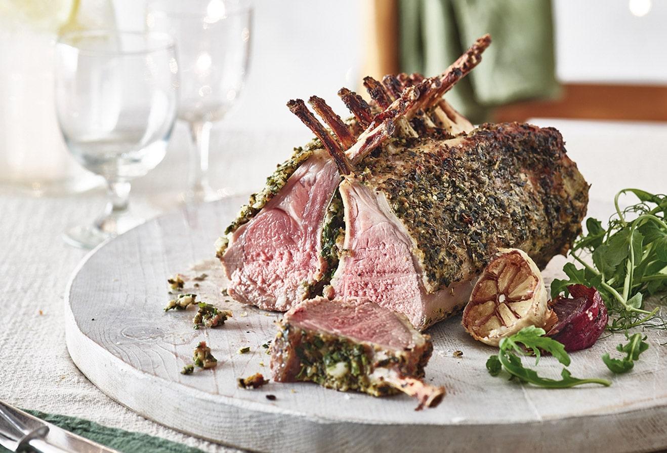 COOK Garlic & Herb Crusted Rack of Lamb