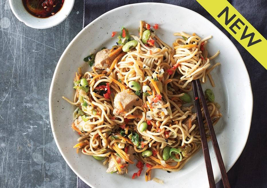 Teriyaki Chicken Noodles Pot for One