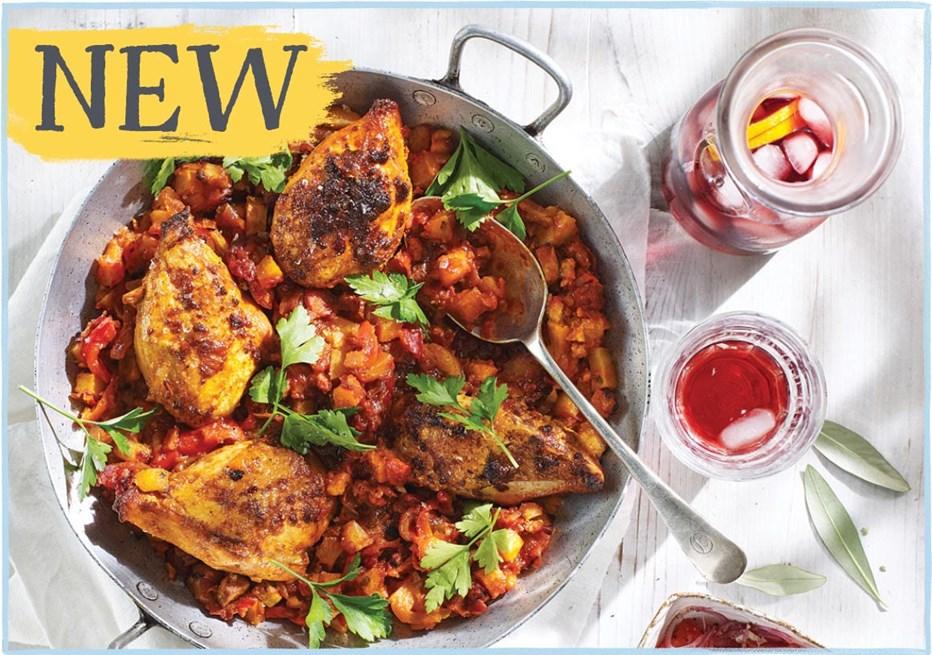 Spanish Chicken with Patatas Bravas