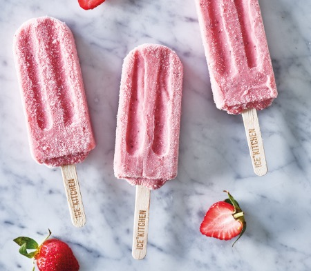 Strawberries And Cream Lolly