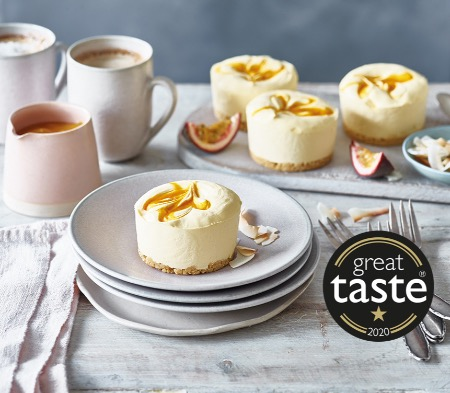 Mango & Passion fruit Cheesecakes