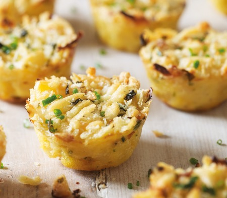 Mini Mac Cheese Canapés