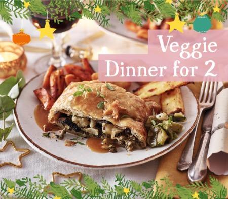 Christmas Veggie Lunch for 2