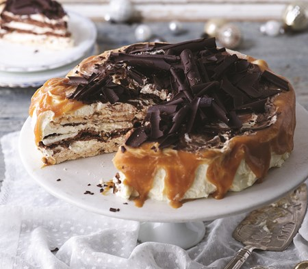 Chocolate & Salted Caramel Vacherin