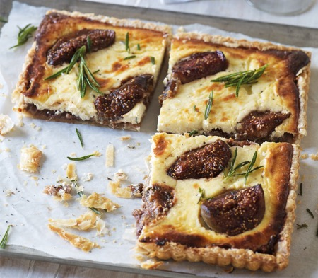 Goat's Cheese, Fig & Rosemary Tart