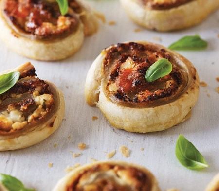 Goat's Cheese Whirls