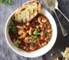 Prawns with Chorizo & Lentils