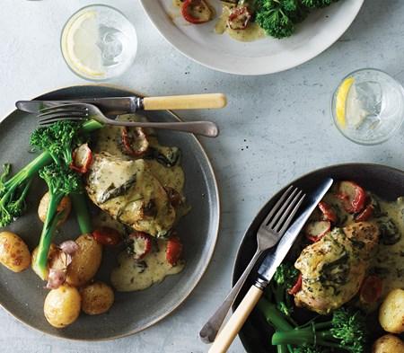 Basil & Mascarpone Chicken