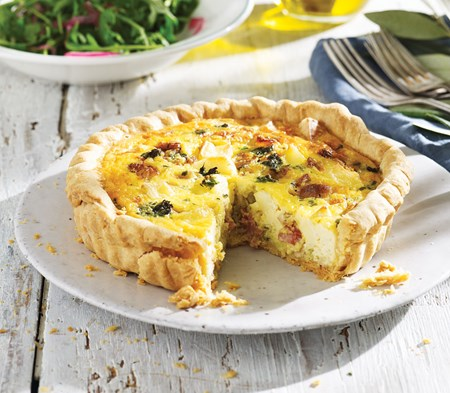 Brie & Bacon Quiche | COOK