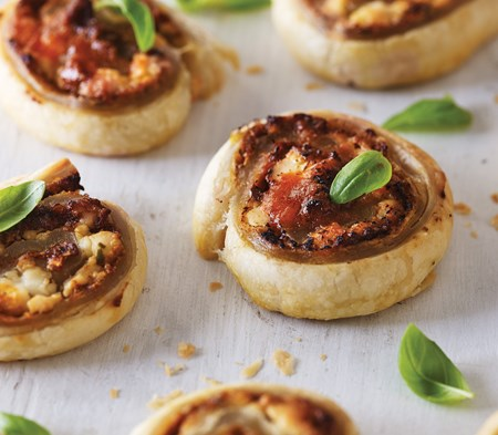 Goat's Cheese & Pesto Whirls