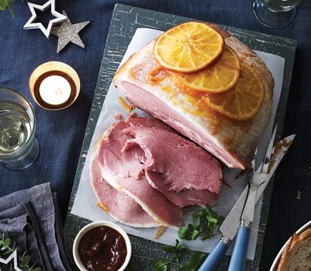 Roast Ham Glazed with Marmalade