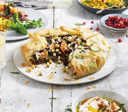 Moroccan Lamb Filo Pie