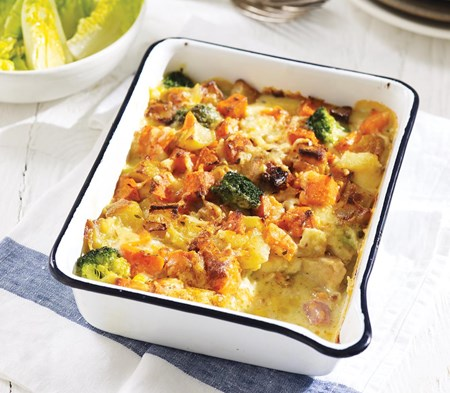 Smoked Haddock & Sweet Potato Gratin