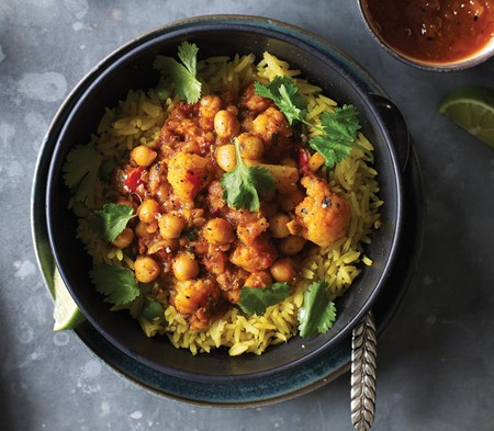 Roasted Veg & Chickpea Curry