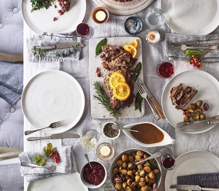 Whole Roast Duck with Cranberry Stuffing