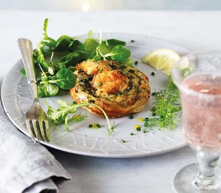 Kiln-Roasted Salmon & Tartare Tart