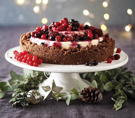 Triple Tier Black Forest Cheesecake