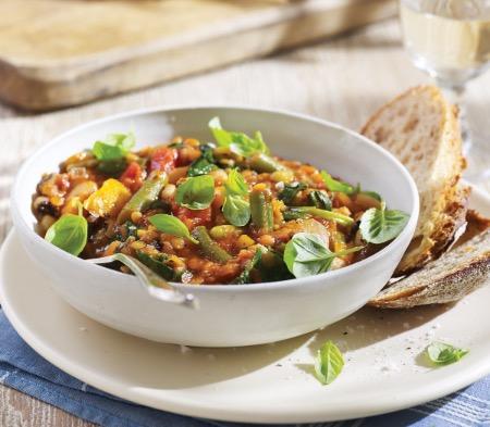 Red Lentil & Mixed Bean Casserole