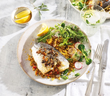 Stuffed Sea Bream with Red Peppers & Chermoula
