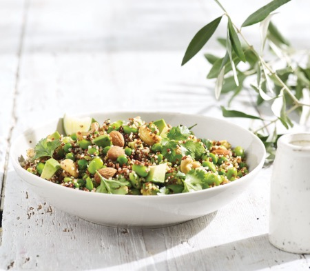 Quinoa Wholefood Salad with a Lime & Ginger Dressing