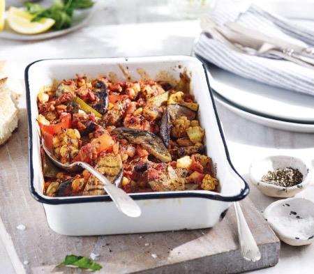 Spiced Cauliflower Aubergine Shakshuka