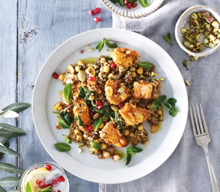 Middle Eastern Chicken with Spiced Mixed Grains