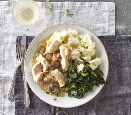 Chicken with White Wine & Thyme