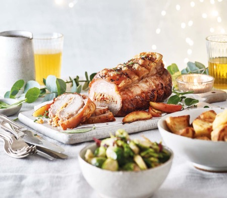 Pork Loin with a Cider & ChorizoStuffing