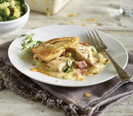 Chicken Ham And Leek Pie Prepared By Hand Ready Meal For 1 And 2 Cook
