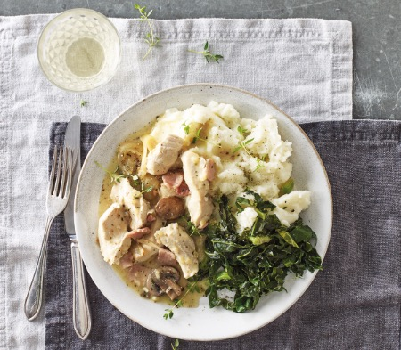 Chicken with White Wine & Thyme