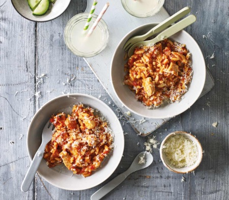 Chicken & Tomato Orzo Bake