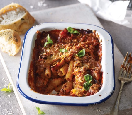 Chicken and Tomato Pasta Bake