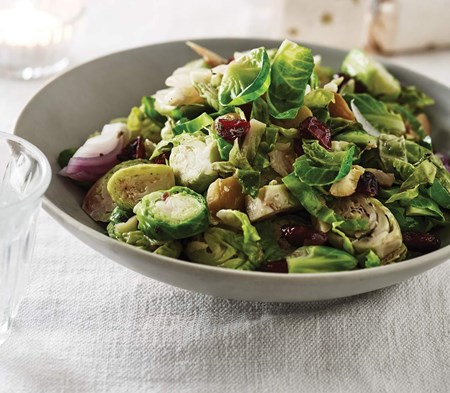 Brussels Sprouts with Chestnuts & Cranberries