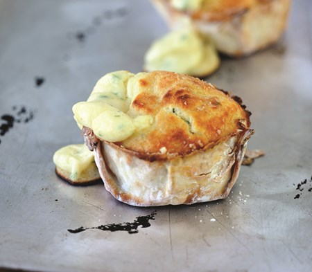 Cheese Souffles with Red Onion Marmalade