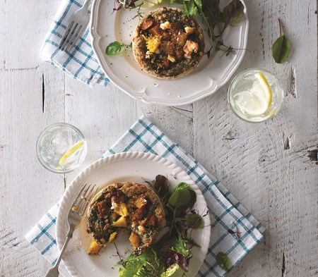 Butternut Squash & Spinach Tartlets