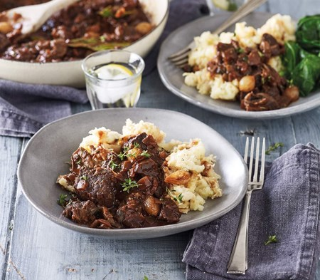Beef Bourguignon served with Celeriac Mash
