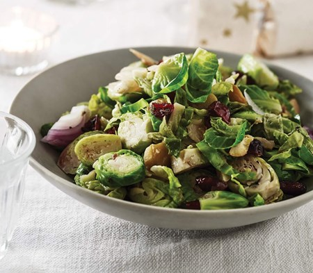 Brussel Sprouts with Chestnuts & Cranberries