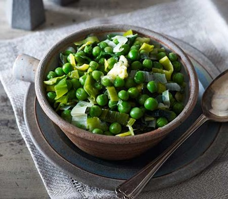Peas & Leeks with a Lemon and Herb Butter