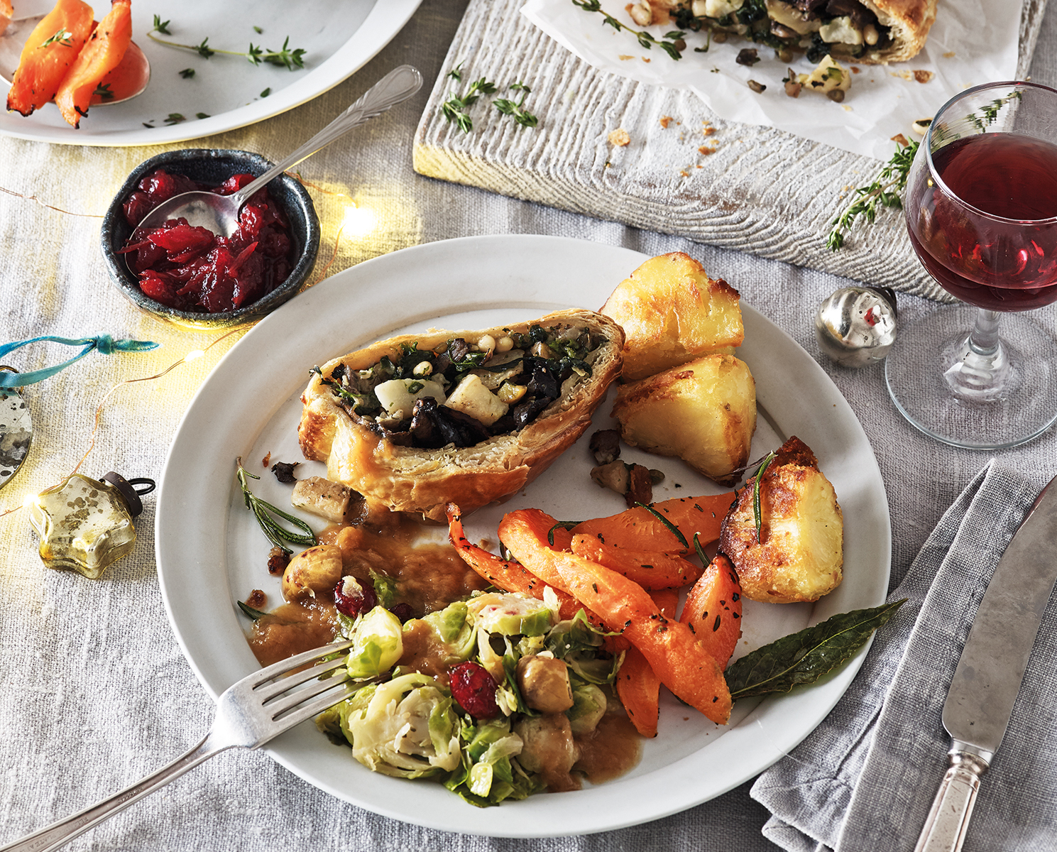 COOK vegetarian Christmas lunch for 2