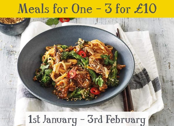 3 Meals for 1 for £10